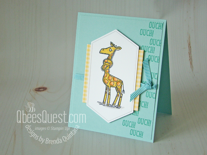 Knotted Giraffe Get Well Card