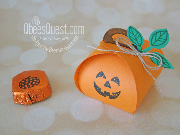 Jack O' Lantern Treat Box with Mini Curvy Keepsakes Box Dies