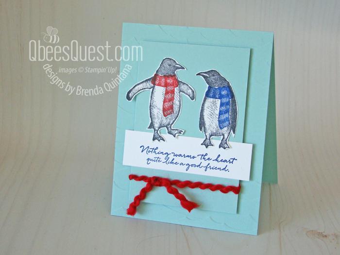 Playful Penguins Friendship Card