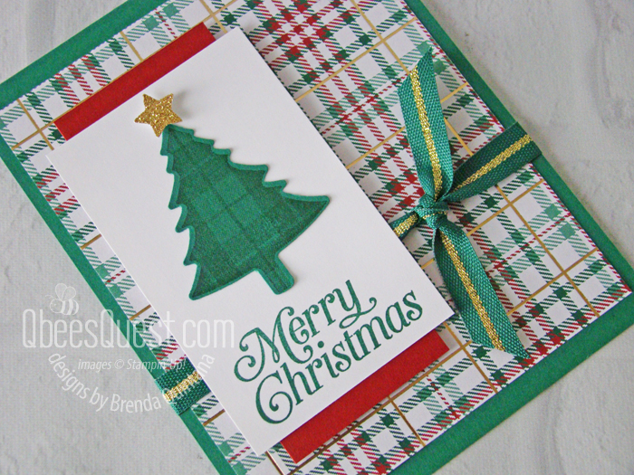 Perfectly Plaid Christmas Card (close up)