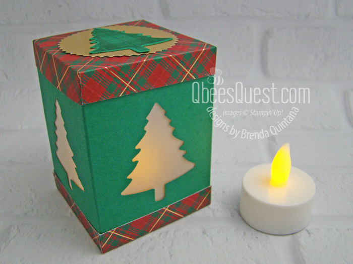Pine Tree Punch Tea Light Holder