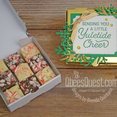 Easy Fudge in Mini Pizza Box