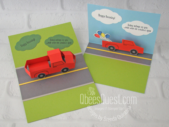 Truck Pop-up Cards (easy & 3D)