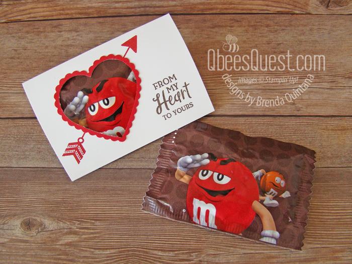 M&Ms Valentine Slider Pouch