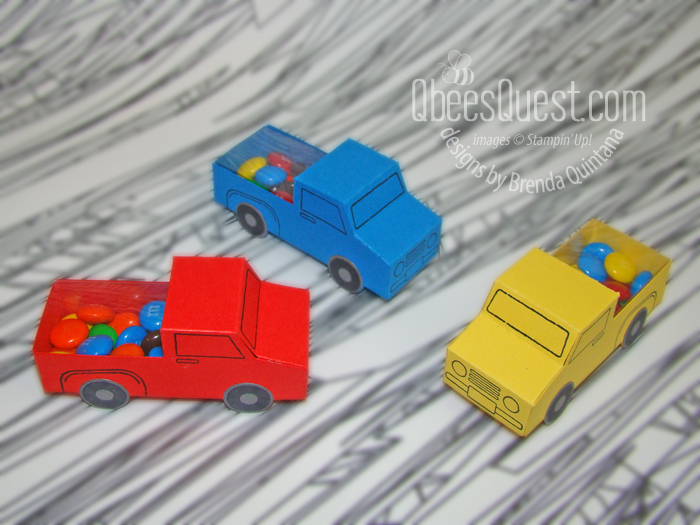 Truck Birthday Favor with M&Ms
