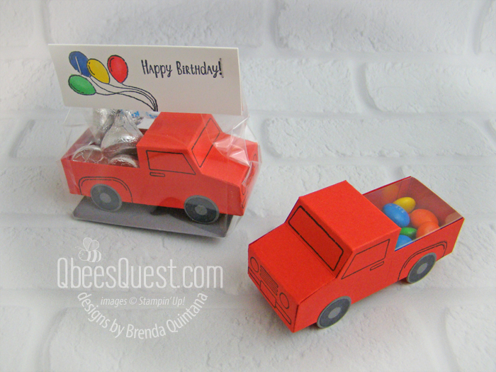 Truck Birthday Favors with M&Ms