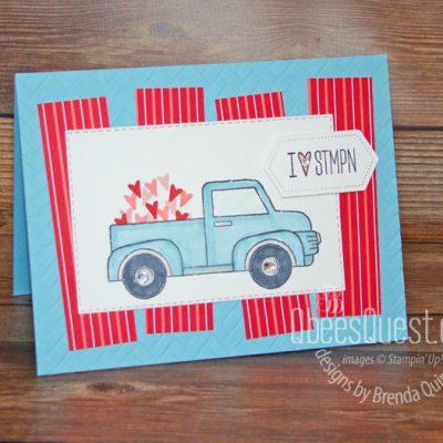 Truck Valentine Card