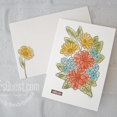 Ornate Style Note Card with Envelope