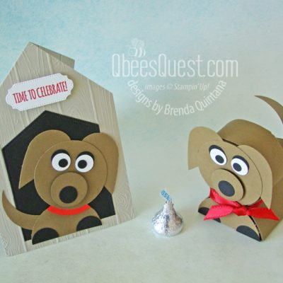 Dog House Card with Hershey's Puppy Favor