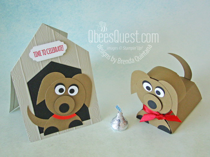 Dog House Fancy Fold Card with adorable Punch Art Puppy