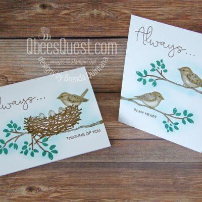 Birds & Branches No Layer Cards