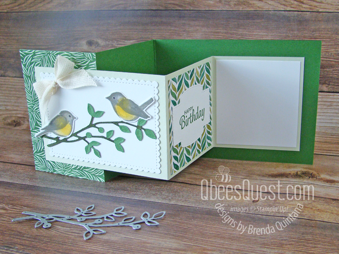 Birds & Branches Z-fold Card