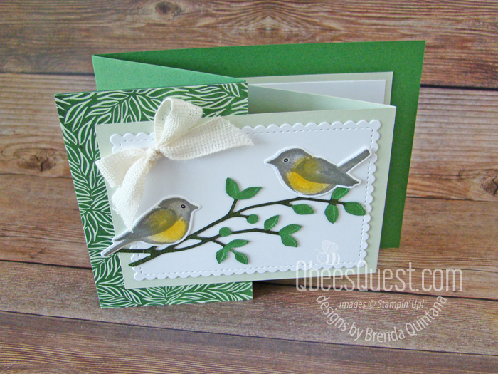 Stampin' Up Birds & Branches Z-fold Card
