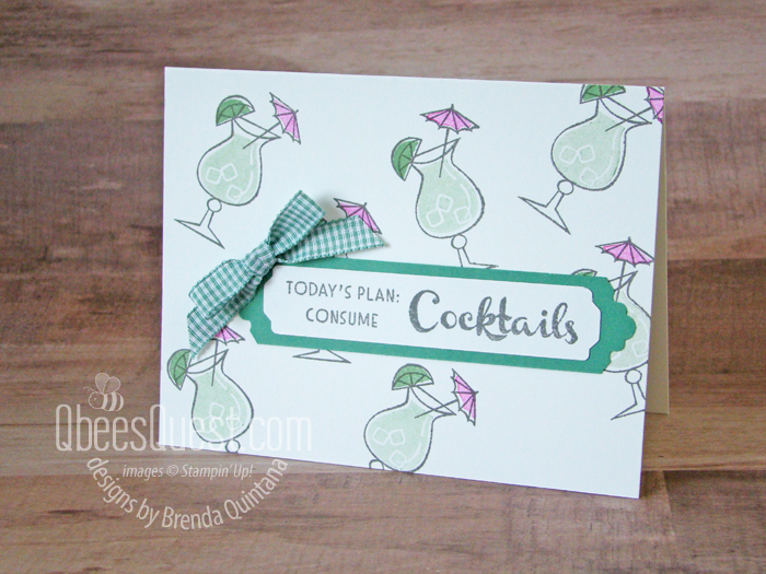 Stampin' Up Nothing's Better Than Cocktails Card