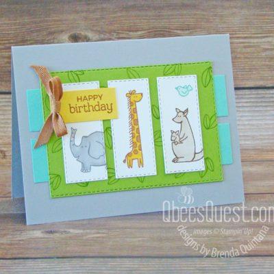 Stampin' Up Zoo Globe Birthday Card