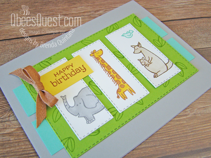 Stampin' Up Zoo Globe Birthday Card