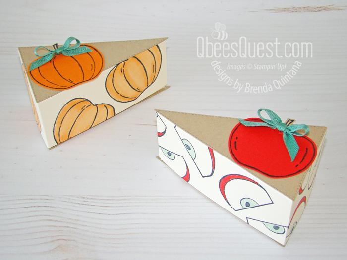 Apple & Pumpkin Pie with Stitched Triangles Dies