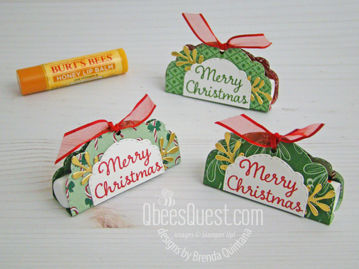 Easy Lip Balm Holder with Celebration Labels Dies