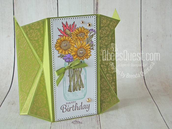 Double Fan Fold Card (with 4-1/4″ x 5-1/2″ front)