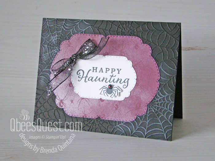 Happy Haunting Card (warning: contains spiders)