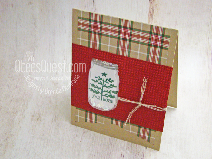 Christmas Jar Shaker Card