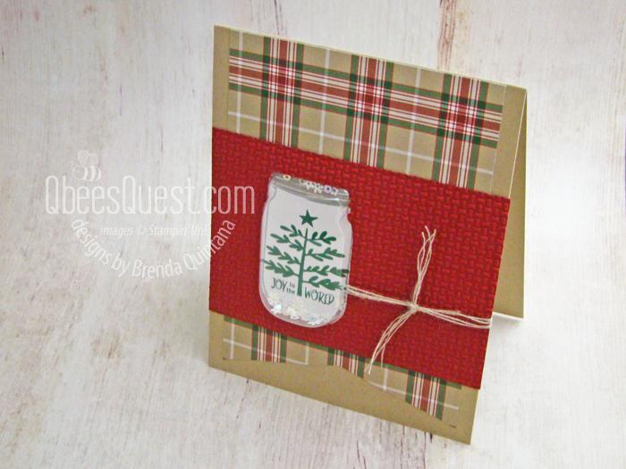 Christmas Jar Shaker Card