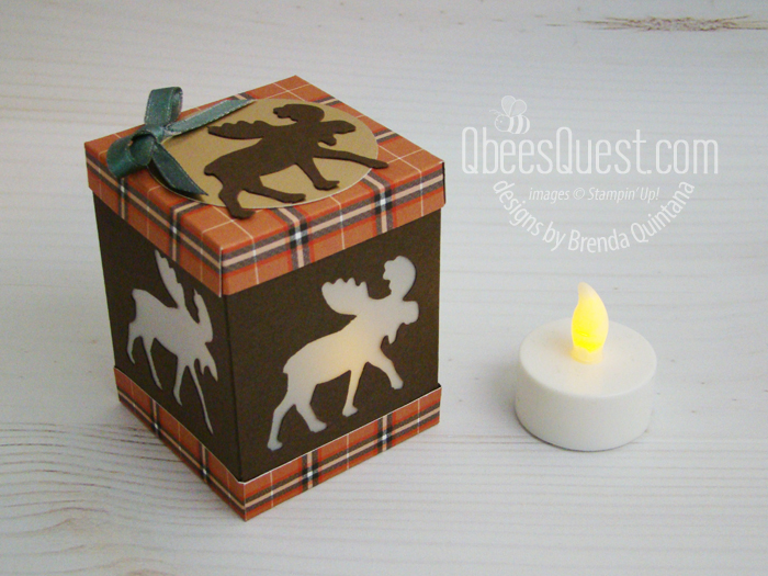 Moose Punch Tea Light Holder