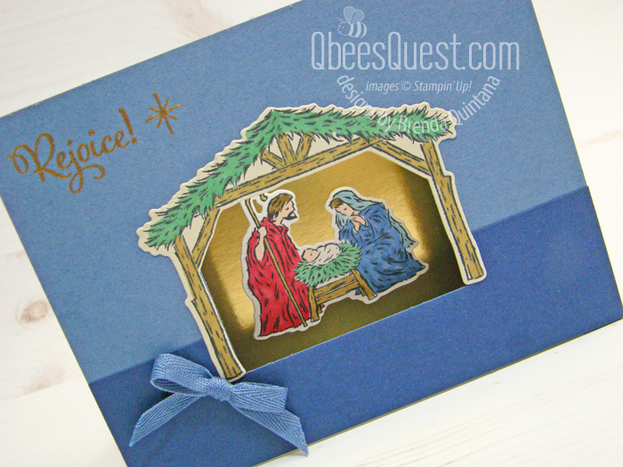 Peaceful Nativity Shadowbox Card