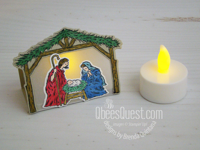 Peaceful Nativity Tea Light Holder
