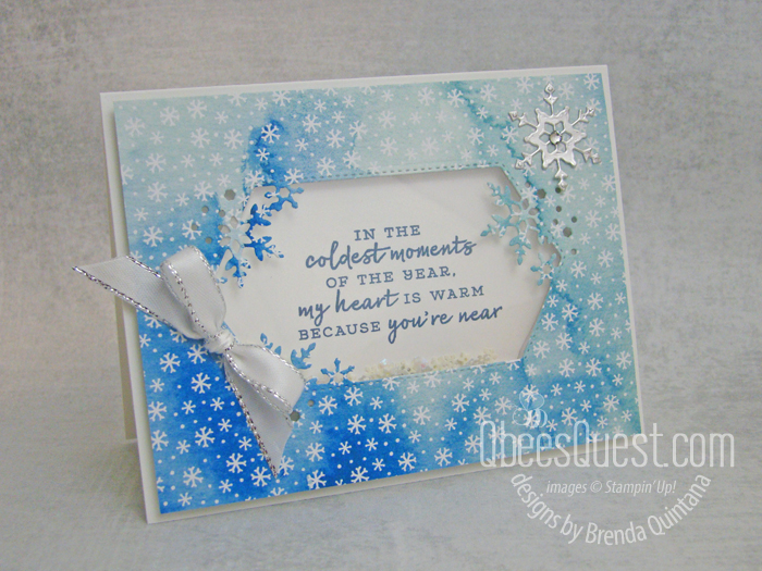 Snowflake Wishes Shaker Card