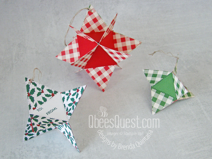 Stitched Triangles Ornaments with Candy Surprise