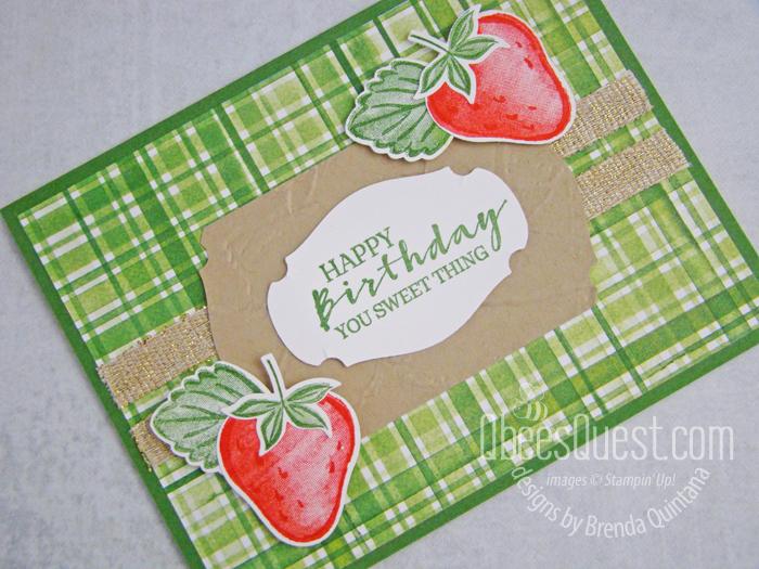 Sweet Strawberry Birthday Card