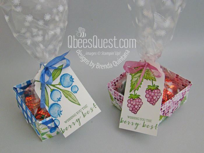 Day 5: Diagonal Fold Berry Baskets