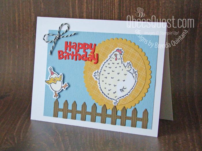 Hey Birthday Chick Card