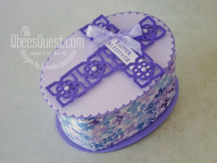 Elegant Easter Cross Box & Card