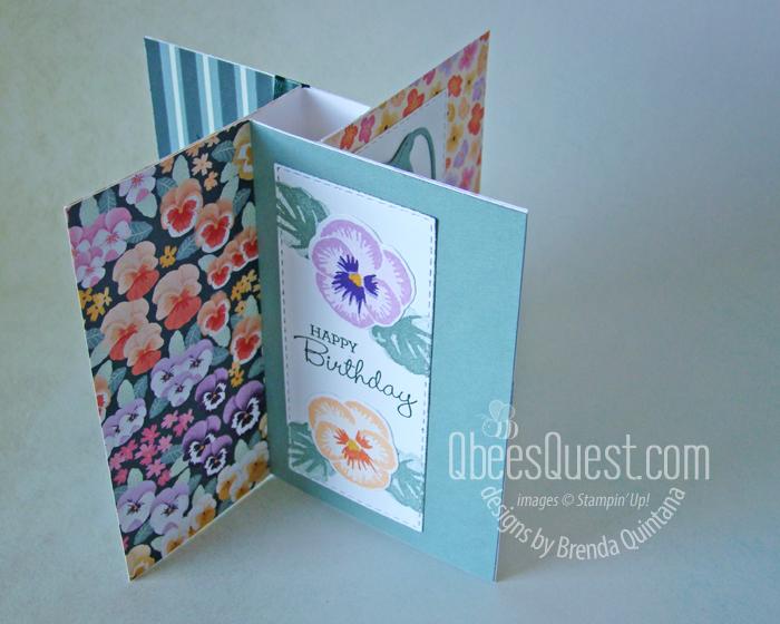 Pansy Patch Pinwheel Card (fits in medium envelope)