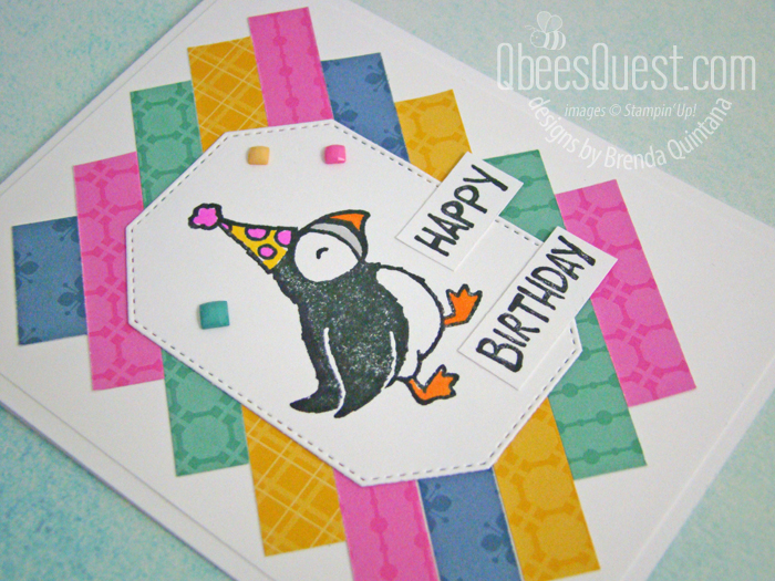 Party Puffins Birthday Card