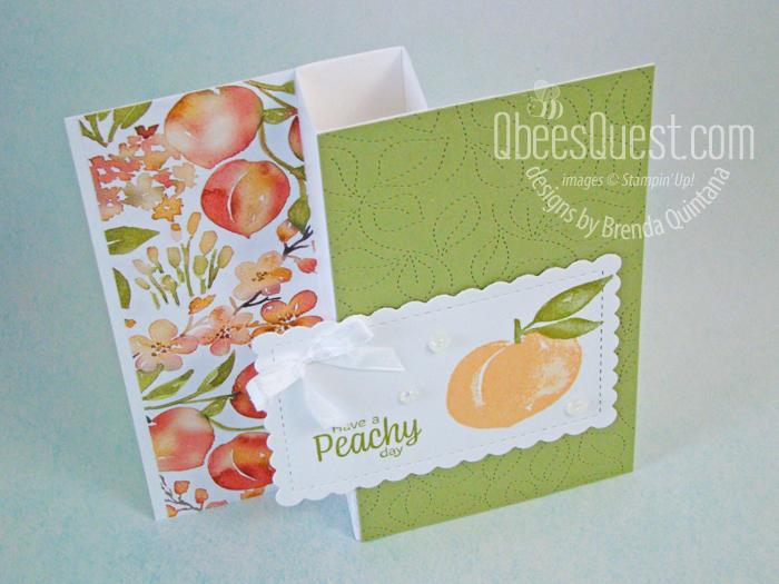 Sweet as a Peach Half Pinwheel Card