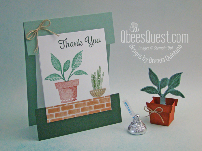 Hershey's Kiss Potted Plant & Split Card
