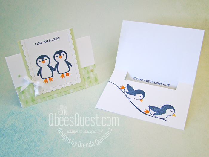 Flip Card with Penguin Place