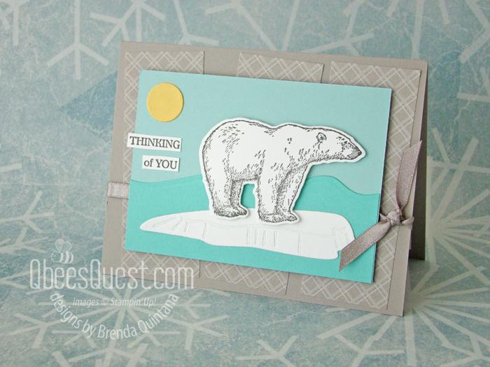 Polar bears are easy to color card