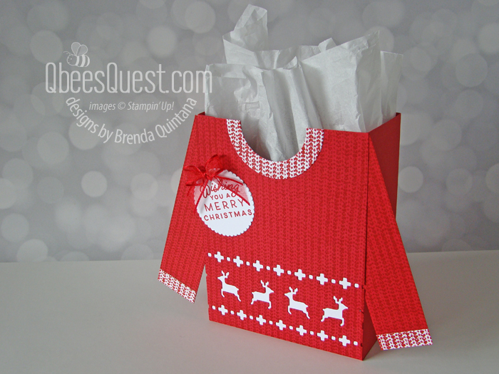 Knitted Sweater Gift Bag