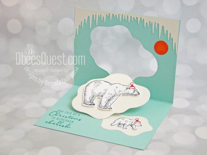 Arctic Bears Pop Up Christmas Card